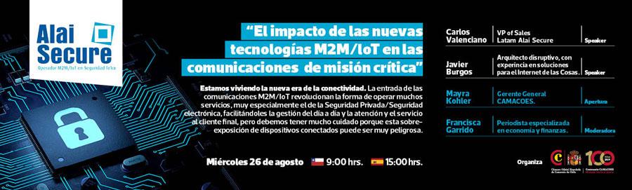 AlaiSecure - Noticias: Webinar M2M/IoT CAMACOES Chile